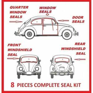 Volkswagen VW BUG Beetle 1965 - 1971 Complete Seal Kit Windows Doors 8 Pieces