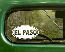 El Paso Texas Decal Sticker 2 Ovals, Bumper, Cars, Laptop