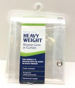 "Maytex Heavy Weight 8 Gauge 100% EVA Shower Liner 70"" x 71"" Clear"