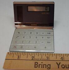 Casio Sl 500 Sr Film Card Calculator Electronic Solar Folding Vintage 1985