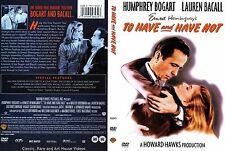 To Have and Have Not ~ New DVD Keepcase ~ Humphrey Bogart (1944)