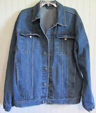 0730a6a1 Vintage IZOD Jeans Blue Denim Jacket Men's Size 1X 100% Cotton Leather Patch