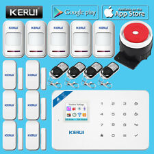 LCD KERUI W18 TFT Wifi GSM SMS Home Burglar Security Alarm System+Indoor siren
