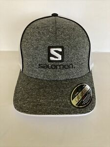 SALOMON Men's Baseball Hat Cap Grey New with Tags Mesh Back Sport Equipment