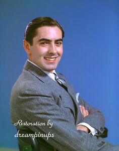 TYRONE POWER 1940 Oversized 11x14 Color Portrait DASHING SMILE
