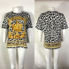 Rare Versace Yellow Gold Baroque Animalier Print T Shirt S