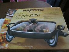 PRESTO 16-INCH ELECTRIC SKILLET W/TEMPERED GLASS COVER NONSTICK SURFACE*NIB