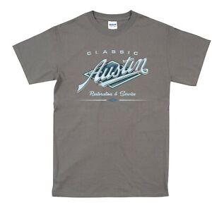 Austin Classic Vintage Car T Shirt Retro Original Weathered Design