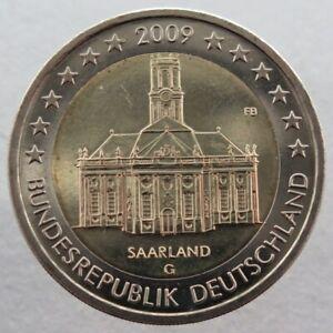 AL20009.2G - ALLEMAGNE - 2 euros commémo. Sarre Ludwigskirche - 2009 G
