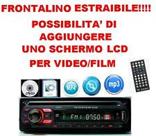 NUOVO STEREO AUTO AUTORADIO CD DVD MP3 MP4 SD USB AUX 52WX4 FRONTALINO NEW
