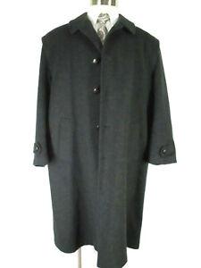 Aquarium Mens Charcoal Moessmer Original Tiroler Loden Wool Coat 44 Italy Made