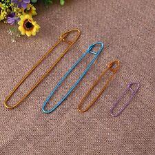 Set 4Pcs Aluminum Holder Crochet Knit Knitting Needles Stitch Yarn Craft 4 Sizes