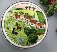 VILLEROY & BOCH, Villeroy & Boch Design Naif LaPlau Farm Scene Covered Candy Tri