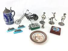 Metal Art Figurine Sculptures, Pewter Figurines, Lot 3095
