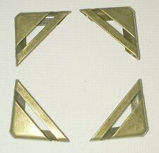 4 x Striscia Di Metallo Libro Angoli ottone antq Brnz 17 mm laterale del menu Scrapbook il Myo Craft