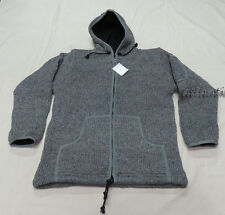 J563 L Wool Fleece Hoodie homemade Cardigans MEN charcoal winter Jacket Nepal