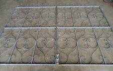 GORGEOUS HANDMADE PAIR OF ORNATE STYLED GALVANISED STEEL GATES