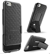 "Apple iPhone 6 Plus 5.5"" Shell Holster Combo Case with Kick-Stand & Belt Clip"
