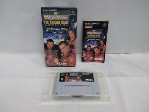 SNES -- Wrestle Mania the Arcade Game -- Box. Super famicom, JAPAN Game. 15861