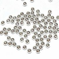 MB628f Silver-Plated Brass 3mm Smooth Round Metal Spacer Beads 100pc