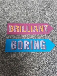 Brilliant and Boring Bookmarks
