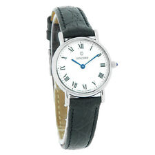 Concord Bennington Ladies Black Leather Band Swiss Quartz Watch 0310665