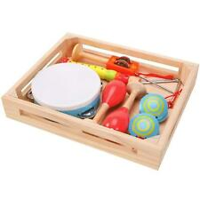 Lelin Wooden Childrens Kids Musical Instrument Band box Play Set - Multicoloured