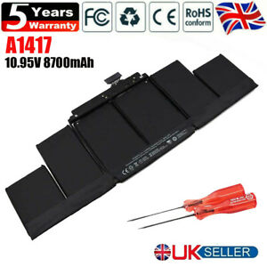 """A1417 Battery for Apple MacBook Pro 15"""" Retina A1398 Mid 2012 Early 2013 OEM UK"""