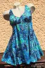 Tropischer Badeanzug/Badekleid mit Röckchen Gr. 48D von NATURANA! NEU!