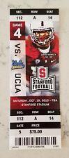 Stanford Cardinal UCLA Bruins Football Full Ticket 10/19 2013 David Yankey Stub
