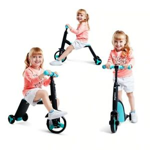 4 Wheels Kids Push Scooter Balance Bike Walker Infant Bicycle Outdoor Ride Toys