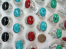 [US SELLER] 10pc  inspired turquoise ring wholesale costume jewelry rings