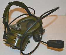 BRITISH ARMY Military Racal Acoustics Tank HEADSET & MIC Z42 Earphones Head Set