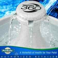 PetSafe Drinkwell 360 Dog Cat Water Fountain Bpa-Free White Plastic 1 Gallon