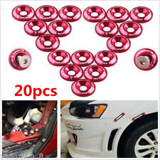 20pcs Red Billet Aluminum Car Body Fender Bumper Washer Engine Bay Dress Up Kit