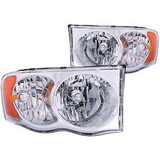 ANZO Crystal Headlights Chrome For Dodge RAM 1500 02-05 / RAM 2500/3500 03-05