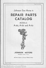 25-115, Parts Catalog, A-50, A-65 & A-70, Johnson Sea Horse 4 (Printed Copy)