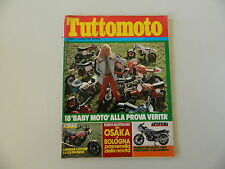 TUTTOMOTO 1/1981 BENELLI 125 SPORT/HONDA CB 750 K/KAWASAKI Z/VESPA P 200 SIDECAR