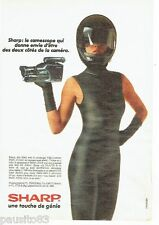 PUBLICITE ADVERTISING 116  1988   Sharp  la caméscope  VHS compact