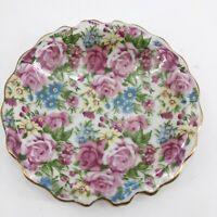Vintage Royal Chintz Arnart 5th Ave 2179 Small Dish Trinket Jewelry Dresser Dish