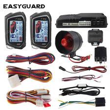 Easyguard car alarm system 2 way remote start Lcd pager display vibration sensor
