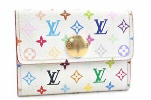 Louis Vuitton Monogram Multicolor Porte Monnaie Cozy Coin Case White LV D1528