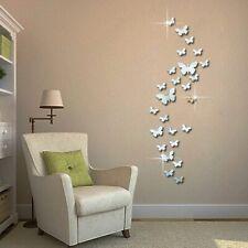 12 Espejos 3D Mariposa Pegatinas De Pared Para Habitación Decoración Dormitorio
