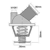 TRIDON Std Thermostat For Holden Camira JE - MPFI 04/87-08/89 2.0L 20JD
