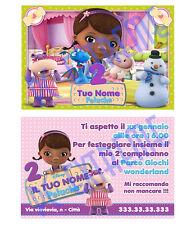 Biglietti - Inviti Compleanno personalizzati DOTTORESSA PELUCHE 30 Pz