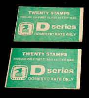 2 MNH Booklets - $4.40 - Scott#: BK143 - D Series   FACE $8.80 SCV $34.34 559