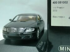 WOW EXTREMELY RARE VW Phaeton 3189 V6 2002 Pearl Black 1:43 Minichamps-W12/GTi