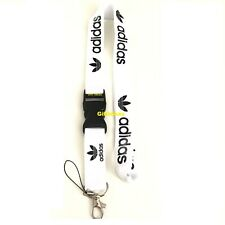 Adidas Lanyard Detachable Keychain iPod Camera Strap Badge ID AdiWhite