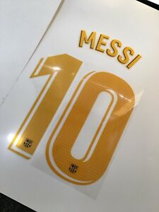 Fc Barcelona Lionel Messi Home Authentic 20/21 Name And Number Messi #10 Yellow