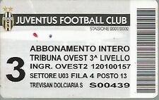 ABBONAMENTO- JUVENTUS - CALCIO STAGIONE 2001/02